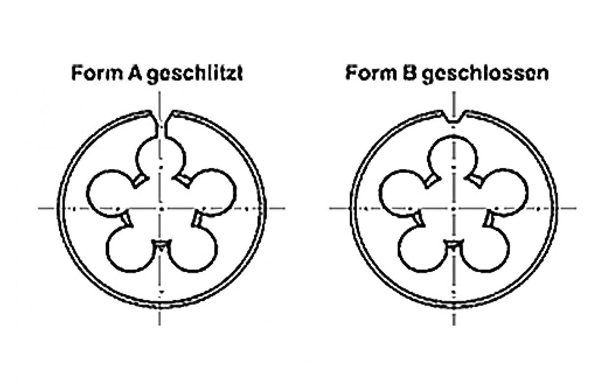 M 5 HSS-E DIN 223 VÖLKEL Schneideisen mit Schälanschnitt