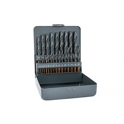 alpen KM 25 HSS Sprint Master Spiralbohrer DIN 338 RN 25-tlg. Satz 1.0 – 13.0 mm