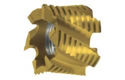 MAYKESTAG HSS-ECo5 TiN Walzenstirnfräser (30° Z=6-8) DIN 1880 NF 40.0 – 63.0 mm