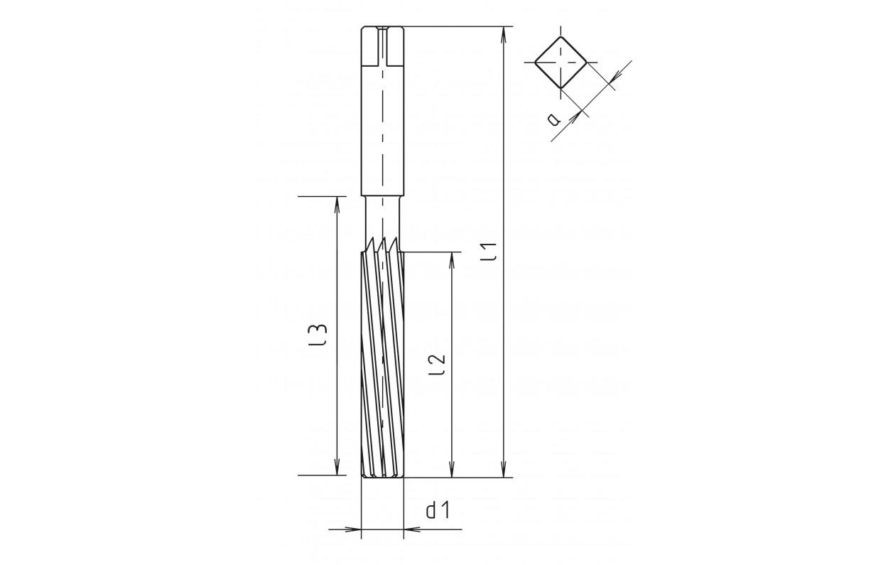 8.0 MM HSS Hand Reamer Spiral Flute