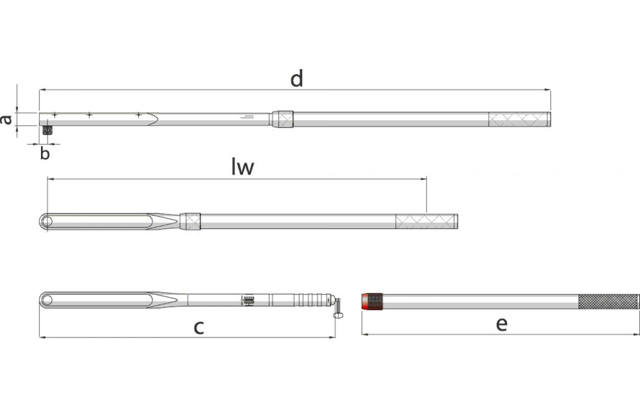 Gedore 8564/ /01/Torque Wrench Dremometer E 1/750/ /2000/Nm
