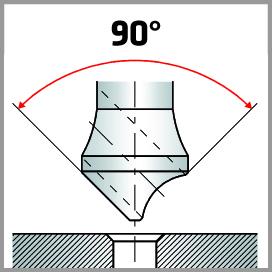 Querlochsenker mit 90° Winkel