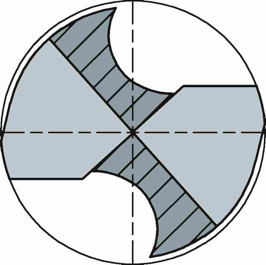 Split point C shaped drill bits